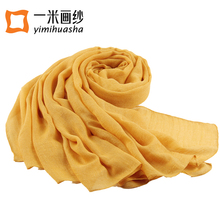 2017 spring simple solid colors cotton shawl scarf wrap for women long foulards femme winter accessories 180*90cm