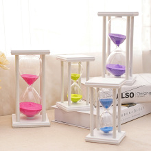 15/30/45/60 Minutes Glass Crystal Hourglass Creative Home Furnishings Craft Gift Office Table Ornament Wooden Sandglass Timer