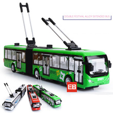 1:32 scale Simulation Air conditioner City Tram bus diecast car alloy pull back toys collection with light & sound for kids gift(China)
