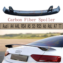 Carbon Fiber Spoiler For Audi TT A3 S3 A4 S4 RS4 A5 S5 RS5 A6 S6 A7 S7 A8 2009-2017 High Quality Wing Spoilers Auto Accessories