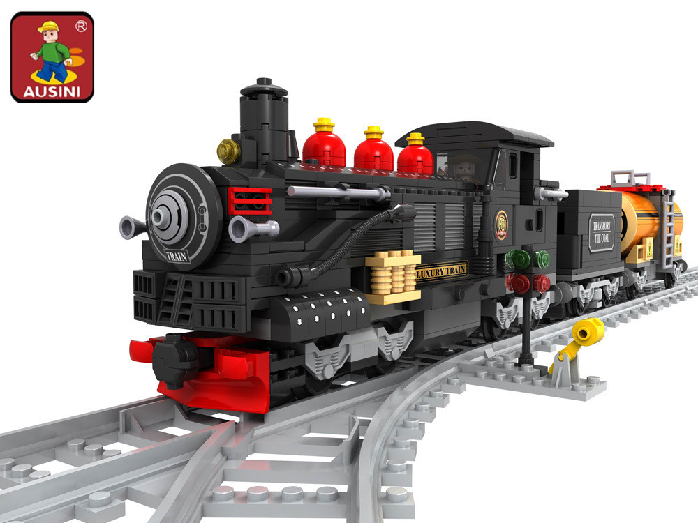 AUSINI 25812 Train building blocks train 462 pcs Train Bricks Blocks childrens DIY educational toys for children<br>