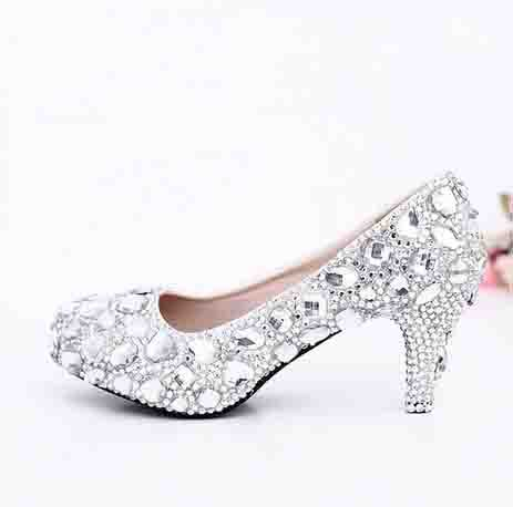 2016 Popular Crystal Bridal Dress Shoes Fashion formal dress shoes Glitter Party Dancing Prom Shoes Free Shipping Wedding Shoes<br><br>Aliexpress
