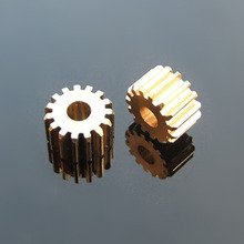 153A Brass Gear Motor Shaft Gear 15 Tooth 0.5M Toys Accessories Fitting 3mm Shaft Hole 8.5mm Pinion Gears