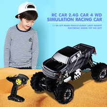 RC Car 2.4G Car 4 WD Simulation Racing Car 1 / 24 Off-Road Vehicle Buggy Light Weight Electronic Model Toy Kid Gift(China)