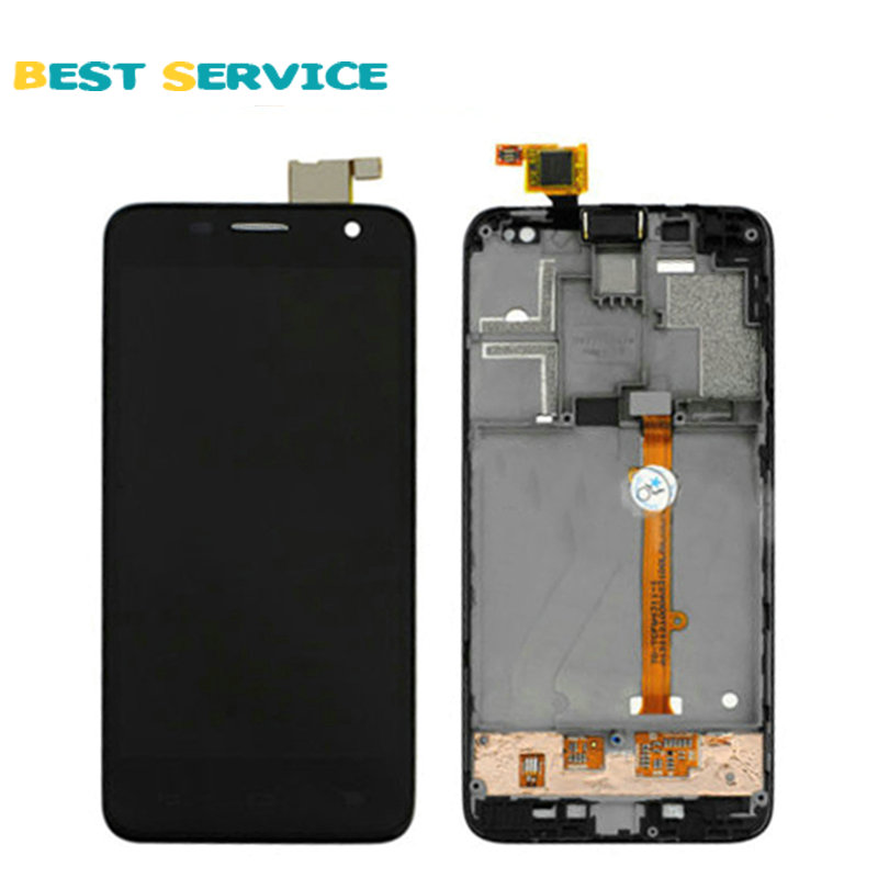 100% New for Alcatel One Touch Idol Mini 6012 OT6012 6012D LCD Screen Display + Touch Screen Digitizer Assembly with Frame Black<br><br>Aliexpress