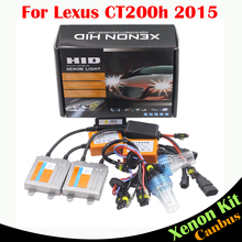 Cawanerl 55W Auto Canbus HID Xenon Kit Error Free Ballast Lamp 3000K-8000K Car Headlamp Headlight For Lexus CT200h 2015