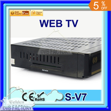 5pcs Original S V7 S-V7 Digital Satellite Receiver S V7 VFD Support WEB TV USB Wifi Biss Key Youporn CCCAMD DVB-S2 DVB S2