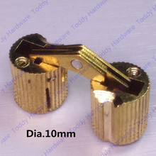 10mm Brass Invisible furniture hinge Hidden Hinges Barrel Hinge(China)
