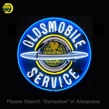 NEON SIGN For Oldsmobile Service Neon Bulbs Sign Texans Houst HANDmade Custom LOGO hanging neon signs vintage personalised light(China)
