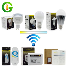 Mi.Light Remote Control LED Bulb GU10 5W E27 6W 9W Color Temperature / Brightness Adjustable(China)