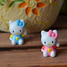 2.5cm Japanese Anime Action figures Cute KT cat doll DIY mobile phone pendant,12pcs/set PVC collection toys for children's gift(China)