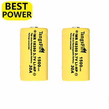 2 pcs 1500mAH IMR 30A 18350 TangsFire Rechargeable Battery Cell high capacity for flashlight headlamp  E-CIG power bank