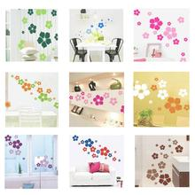 Creative Flower Wall Sticker Scrub Duplex Environmental Protection DIY Removable Wall Stickers W50