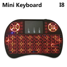 I8 Mini Wireless Keyboard backlight 2.4GHz English Air Mouse Remote Control Touchpad For Android TV Box(China)