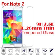 0.26mm 2.5D 9H Tempered Glass Phone Mobile Front Film Screen Ecran Protector For Samsung Sumsung Sansung Galaxy Note 2 N 7100