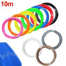10M 1.75mm 3D Printer ABS Filament Modeling Stereoscopic For 3D Drawing Printer Pen Plastic Rubber Magic Print EM88