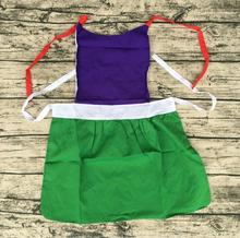New Kids plastic Cook Apron Children Costume manufacture cheap customized kitchen Painting Apron(China)