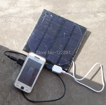 High Quality! 3W Solar Charger Monocrystalline Solar Cell Solar Panel USB Solar Mobile Charger Free Shipping