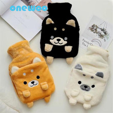 Creative Cartoon Cute Three Colors Stereoscopic Shiba Inu Hot Water Bag Plush Toy Kids Birthday Gift Winter Warm Hand Dog Toy(China)