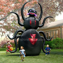 New airblown giant inflatable halloween spider/ halloween party yard decoration made in china high qualty