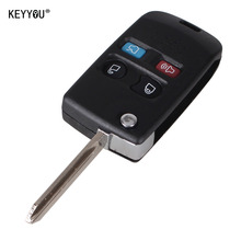 KEYYOU 4 Buttons Modified Folding Remote Key Flip Shell For Ford Crown Victoria Escape Expedition Explorer Explorer Sport Trac