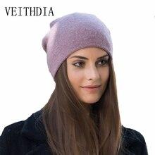 VEITHDIA mujeres otoño invierno sombreros de punto gatito lindo beanie hat  para mujeres niñas invierno gorro de lana Skullies go. d090944963d