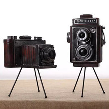 American Rural Resin Tripod for Camera Model Retro Nostalgic Photo Props Bar Shop Home Decoration Gifts Crafts