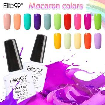 Elite99 Nouveau 1 pcs UV Gel Vernis À Ongles de 20 Macaron couleurs Vernis Laque Gel Top Base Nécessaire Nail Art Peinture 10 ml