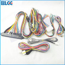 2pcs / set 28pin Jamma Harness for Arcade Games PCB 6/8 Buttons Wires Output for LCD Game Machine Accessory