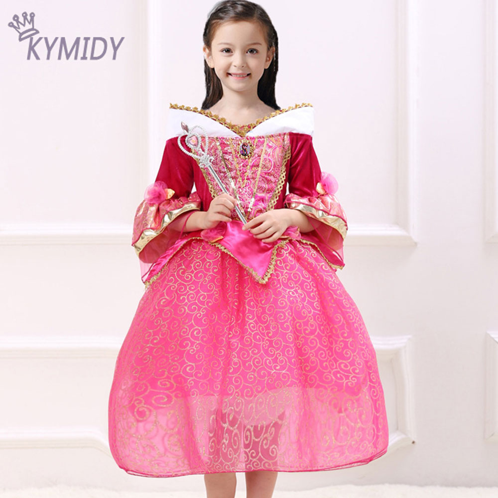 Baby Girl Dress Princess Party Costumes Sleeping Beauty Cosplay Kids Dresses for Girls Hight Quality Children Clothing 2017 Sale<br><br>Aliexpress