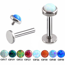 SWANJO 16G 316L Surgical Steel Opal Labret Lip Stud Rings Sexy Stone Style Lip Stud Fashion Earrings Monroe Pircing Body Jewelry(China)