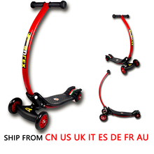 Kids Exercise Toys Bending Design 4 Wheel Folding Scooter Skateboard Child Scooter Foldable With Rear Foot Brake Drop Shipping(China)