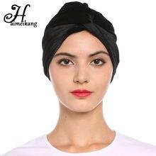 Haimeikang Nuove Donne Stretch Velvet Turbante Cappello Croce Twist Cap  Chemo Caps Molle Headwrap Fasce Musulmano 0b7c75e1f17b
