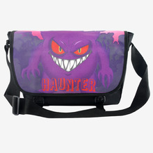 Anime Pokemon Haunter Printing Students Boys Girls School Bags Double Buckle Shoulder Bag Cartoon Cool Travel Bag for Teens(China)