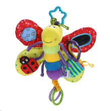 Cute Dragonfly Baby Rattle Child Plush Doll Toy Infant Teether Kid Mobile Hanging Bed Bell Stroller Handbell