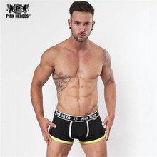 Pink Hero Brand Sexy Man Underwear Boxer Men's Cotton Underpants Fashion Design Male Men's comfortable panties shorts boxer 1201