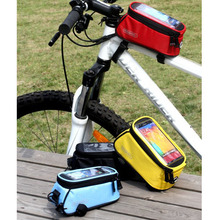 Cycling Tube bags Bicycle Mobile Phone Pouch Touch Screen Phone Bag Top Frame Tube Storage Bicycle Bags S/M/L(China)