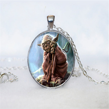 YODA Star Wars NECKLACE YODA Necklace Pendant Yoda Choker Necklace Gifts for the Star Wars universe Jewelry HZ1