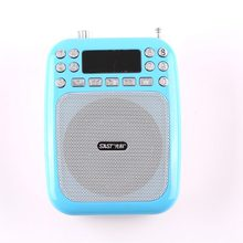 Wired Portable Voice Amplifier Megaphone Booster Loudspeaker Mini Speaker FM radio TF card with Microphone for teacher guide