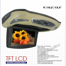 10.2  Inch Roof Mount Car LCD Monitor Flip Down DVD Screen Overhead Multimedia Video Player Ceiling Roofmount Display