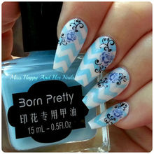 1pc 15ml Light Blue Born Pretty Nail Art Stamping Stamp Polish Nail Polish Blue Effect Stamp Polish Tools #9