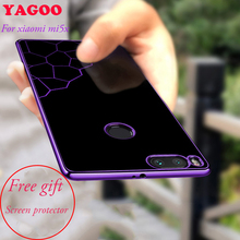 Case for xiaomi mi 5x luxury tpu soft back cover include mi5x screen protector men women popular full protection 5.5 inch YAGOO(China)