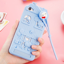 For BBK Vivo V3 Max 3D Cute Cartoon Fabitoo Hello Kitty Phone Case Soft Silicone Back Cover With Lanyard