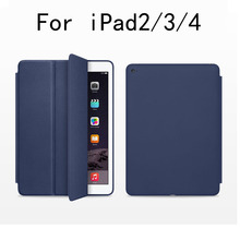 Original smart tablet case Protective PU Leather cover case For Apple i pad 2/3/4 9.7tablet Magnetic pu leather Case A1458/9(China)