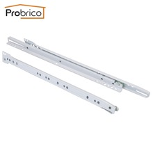 "Probrico 1 Pair Keyboard Drawer Sliding DSMH102-16 Steel White Length 400mm 16"" Furniture Cabinet Kitchen Cupboard Drawer Slides(China)"