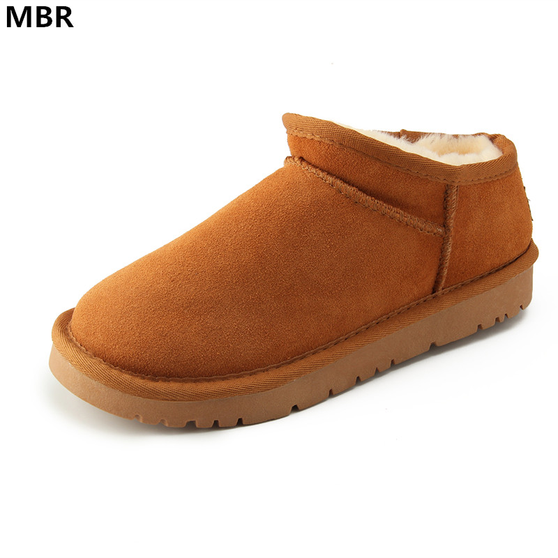 MBR Women Australia Classic Style Ug Snow Boots Winter Warm Leather Flats Warterproof High-quality Ankle Boots large size 34-44<br>
