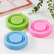 Protable Drinkware Tools Folding Gargle Cup Solid Color Water Silicone Cups For Outdoor Travel E2S