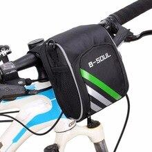 B-SOUL Bike Front Bag Bicycle Road Bike Handlebar Bag Cycling MTB Frame Tube Basket Shoulder Bags Bicycle Accessories