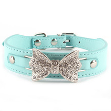 Dog Collar Bling Personalized Pet Dog Collars with Buckle Puppy Cat Necklace Rhinestone Letters Charms