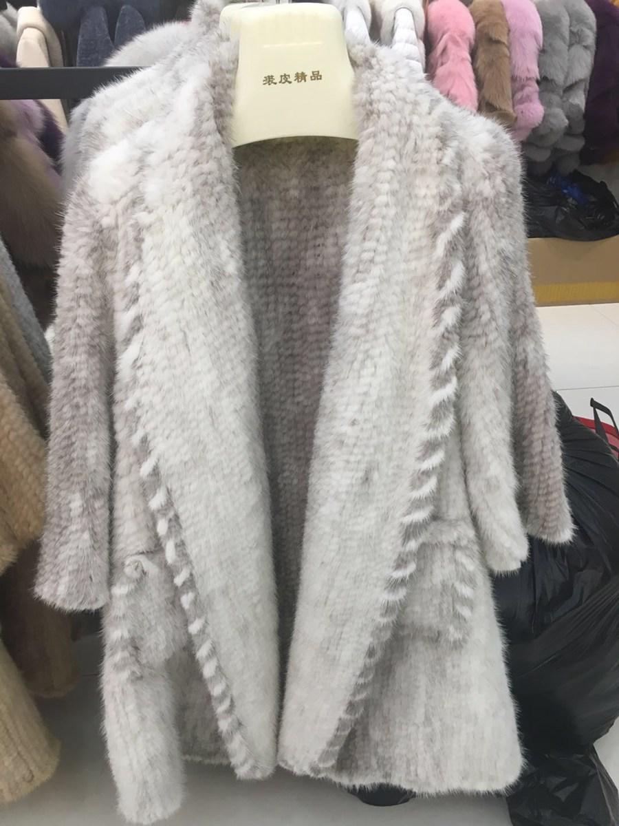 women luxury genuine real knitted mink fur shawls (3)